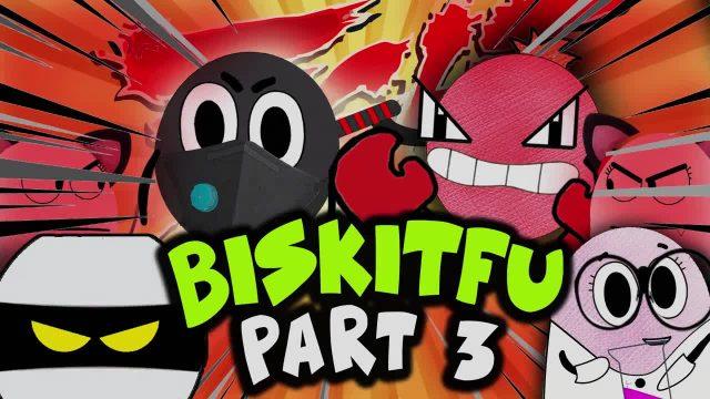 BISKIT FU Pt. 3/6 | Brother Vs. Brother | BISKITOONS | English
