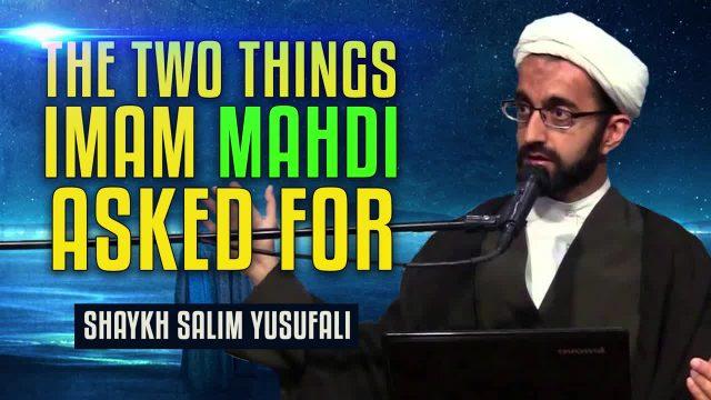 The Two Things Imam Mahdi (A) asked for | Shaykh Salim Yusufali | English